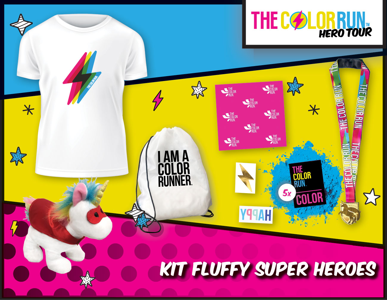 kid fluffy Super heroes Participant Kit